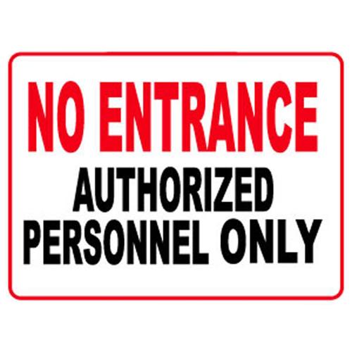 Nếu chưa được cấp phép không ai được phép vào bên trong trong không gian hạn chế